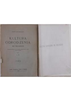 Kultura odrodzenia we Włoszech tom I i II, 1905 r.