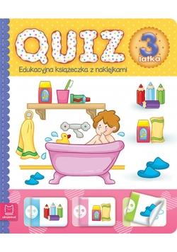 Quiz 3-latka. Edukacyjna książeczka z naklejkami