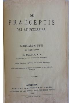 De Praeceptis dei et ecclesiae, 1924r.