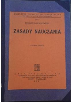 Zasady nauczania, wydanie II, 1931 r.