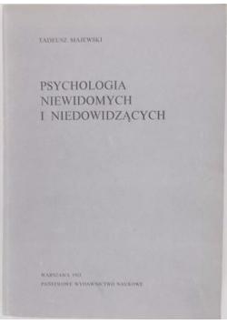 Psychologia Niewidomych I niedowidzących