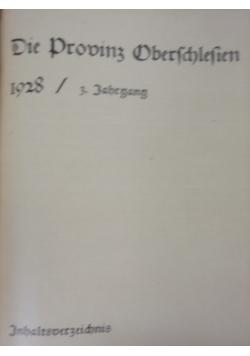 Die Provinz Oberschlesien, 1928 r.