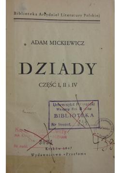 Dziady część 1, 2 i 4, 1947 r.
