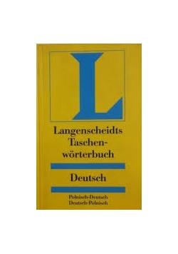 Langenscheidts Taschenwörterbuch, Deutsch