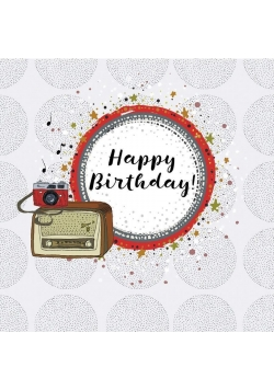Karnet kwadrat CL0216 Urodziny radio