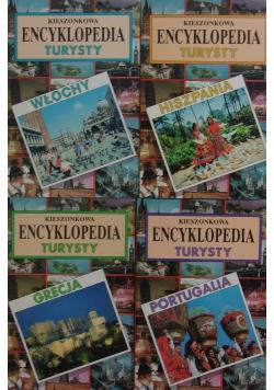 Kieszonkowa encyklopedia turysty, zestaw 4  książek