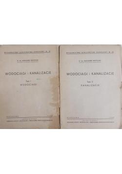 Wodociągi i kanalizacje 2 tomy, 1948r