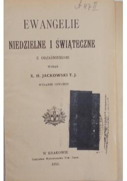 Ewangelie niedzielne i świąteczne, 1916 r