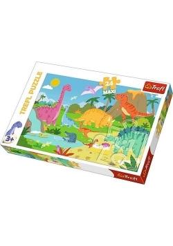 Puzzle 24 maxi W świecie dinozaurów TREFL