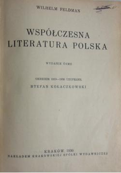 Współczesna literatura polska, 1930 r.