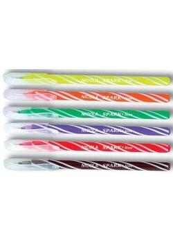 Długopis Nicola 0,6mm niebieski 6szt SPARK LINE