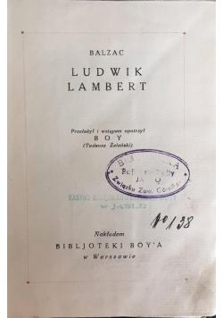 Ludwik Lambert, 1924 r.