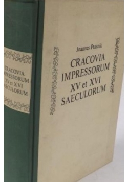 Cracovia impressorum XV et XVI saeculorum, reprint z 1922 r.