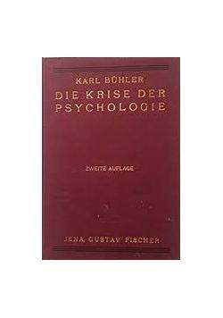 Die Krise Der Psychologie, 1929r.