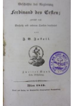 Ferdinand des Ersten, 1843r.