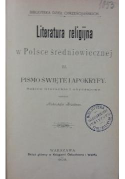 Literatura Religijna w Polsce  średniowiecznej II, 1903