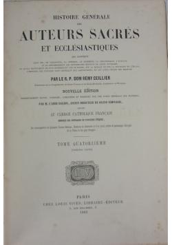 Histoire generale des Auteurs Sacres et ecclesiastiques, tom 14, 1863 r.