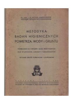 Metodyka Badań higienicznych, powietrza, wody i gruntu 1949 r.