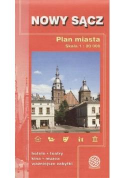 Plan Miasta - Nowy Sącz czerwona