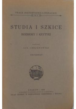 Studia i szkice.Rozbiory i krytyki, 1939r.
