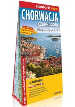 Chorwacja i Czarnogóra mapa samochodowo-turystyczna 1:300 000