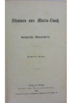 Stimmen aus Maria-Laach. Katholische Monatschrift, 5. Band, 1873 r.