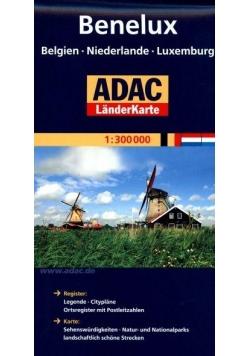 LanderKarte ADAC. Kraje Beneluksu 1:300 000 mapa