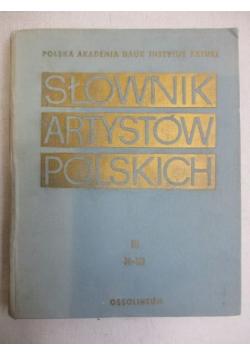 Słownik Artystów Polskich, Tom III: H-Ki
