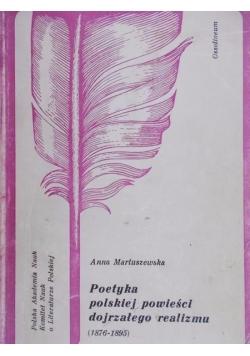 Poetyka polskiej powieści dojrzałego realizmu