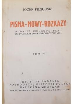Pisma-mowy-rozkazy tom V, 1933r.