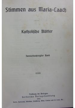 Stimmen aus Maria Laach 82 band, 1912r.