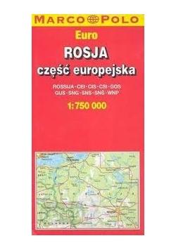 Rosja część europejska, mapa