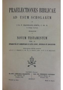 Praelectiones Biblicae , 1941 r.