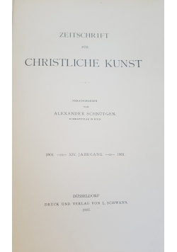 Zeitschrift für christliche Kunst, 1902r.
