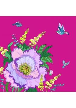 Karnet Swarovski kwadrat CL0604 Kwiaty purpura