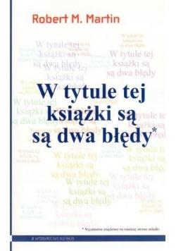 W tytule tej książki są są dwa błędy