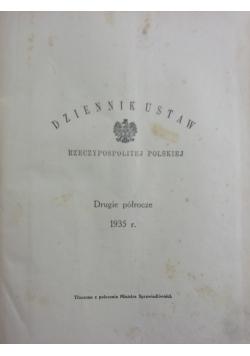 Dziennik Ustaw Rzeczpospolitej Polskiej, Pierwsze półrocze,  1929 r.