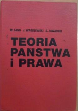Teoria państwa i prawa