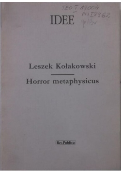 Horror metaphysicus