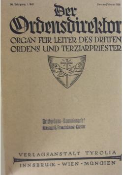 Der Ordensdirektor, 1926 r.