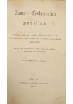 Novum Testamentum Graece et Latine, 1884 r.