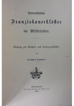 Niedersächsische Franziskanerkloster im Mittelalter, 1896 r.