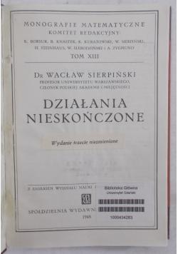 Działania nieskończone, 1948r.