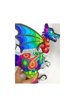 Kolorowanka 3D Smok