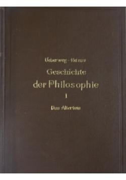 Geschichte der Philosophie des Altertums, 1909 r.