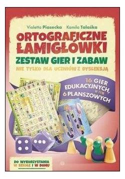Ortograficzne łamigłówki. Zestaw gier i zabaw
