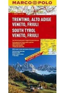 Mapa Drogowa Marco Polo. Tyrol, Wenecja 1:300 000