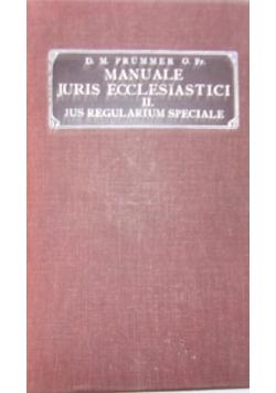 Manuale iuris ecclesiastici ius regularium speciale, 1908r.