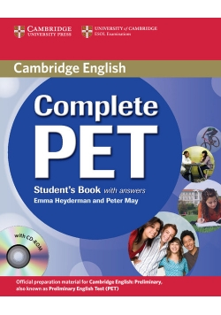 Complete PET Student's Book with answers + CD