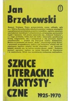 Szkice literackie i artystyczne 1925-1970